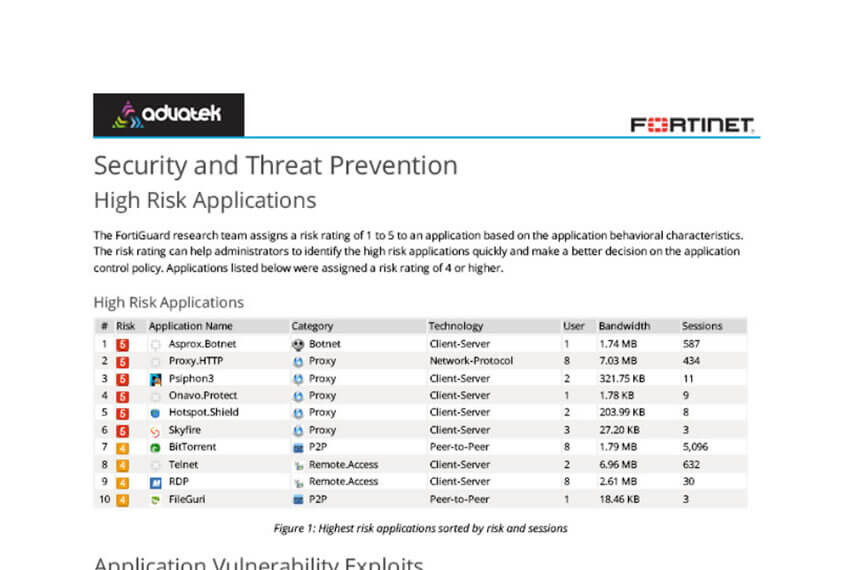 The Fortinet & Advatek Cyber Assessment Report